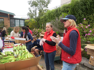 Eighth Graders at RDNC Food Pantry   April 24, 2014