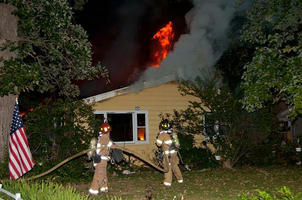 Carpentersville FD Residential Blaze - Sept. 13, 2010