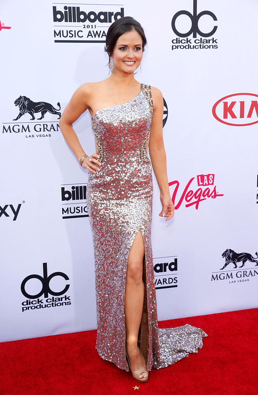 . Danica McKellar arrives at the Billboard Music Awards at the MGM Grand Garden Arena on Sunday, May 17, 2015, in Las Vegas. (Photo by Eric Jamison/Invision/AP)