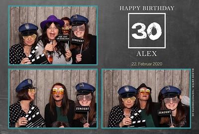 Alex 30. Geburtstag