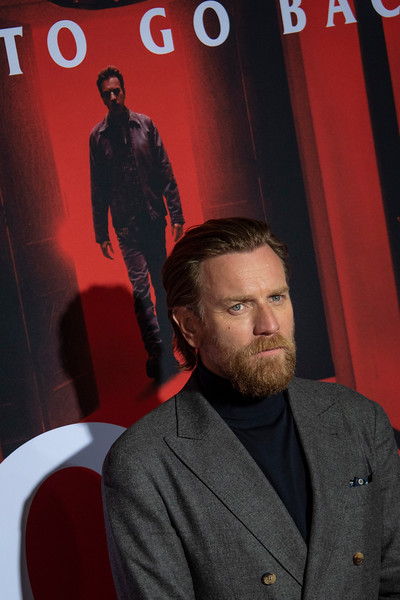 """LOS ANGELES, CALIFORNIA - OCTOBER 29: Ewan McGregor attends the premiere of Warner Bros Pictures' """"Doctor Sleep"""" at Westwood Regency Theater on Tuesday October 29, 2019 in Los Angeles, California. (Photo by Tom Sorensen/Moovieboy Pictures,)"""