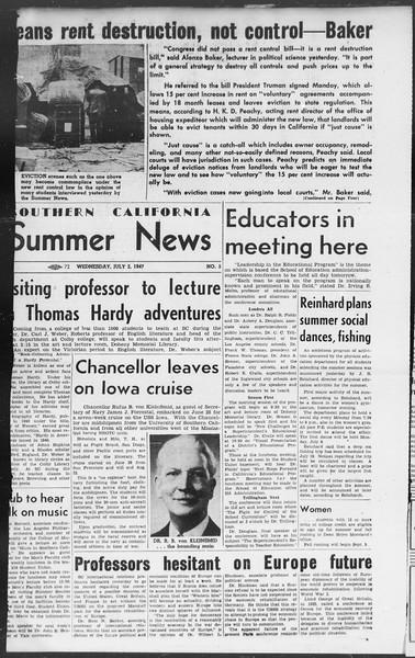 Summer News, Vol. 2, No. 5, July 02, 1947