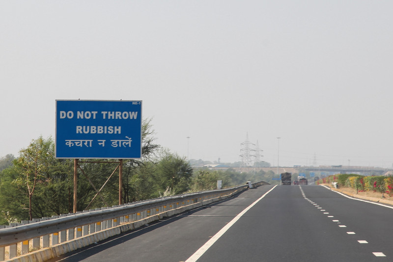 Random sign on the road from Ahmedabad to Jaipur.