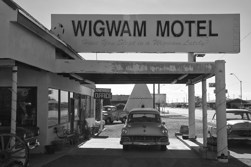 WigWam Motel in Black and White