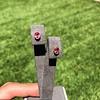 .79ctw Oval Padparadscha Sapphire Bezel Stud Earrings 22