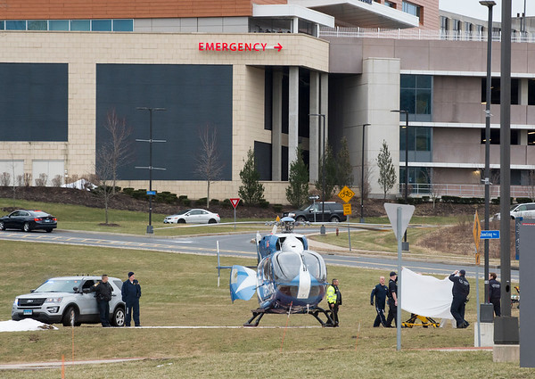01/28/20 Wesley Bunnell | StaffrrA patient believed to be Fotis Dulos is taken from an ambulance and loaded onto a Lifestar Helicopter from the Emergency Department at UCONN Medical Center in Farmington on Tuesday afternoon.