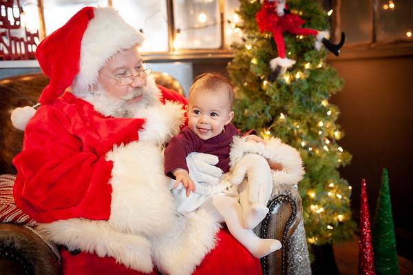 1st Christmas with SANTA