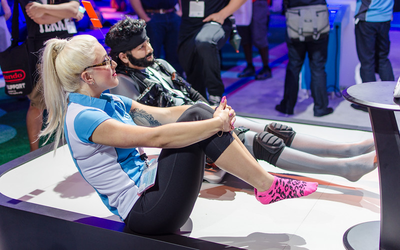Wii U fitness with Solid Snake at E3 2012