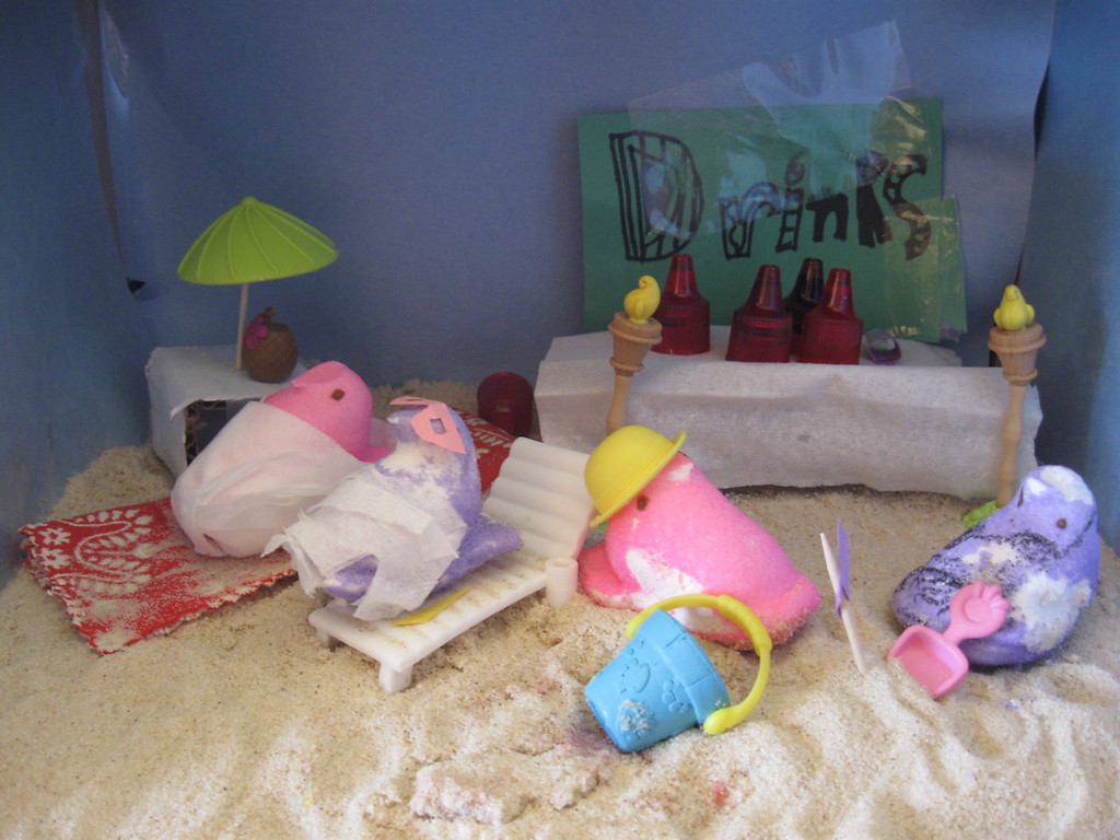 . Beach Party, Lia and Caroline, Age 8