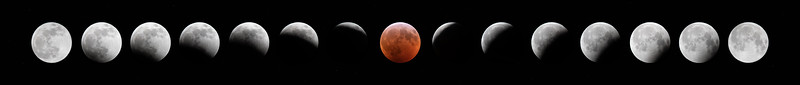 Super Wolf Blood Moon Lunar Eclipse 2019 Progression Composite Image