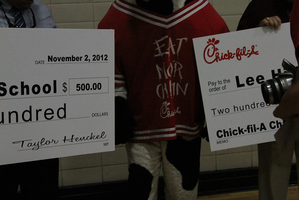 Lee Chikfila Check Pep Rally 11/02/2012