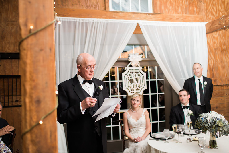 Father's speech at a Bluemont Vineyards wedding. Photos by the best Washington DC wedding photographer Jalapeno Photography.