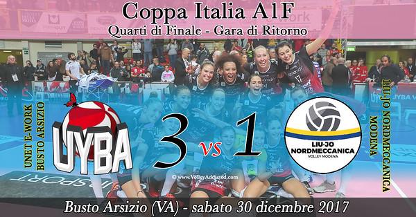 Coppa Italia 4i: Unet E-Work Busto Arsizio - Liu-Jo Normeccanica Modena