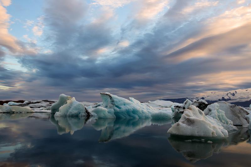 Icebergs, Glacier Lagoon at Jökulsárlón