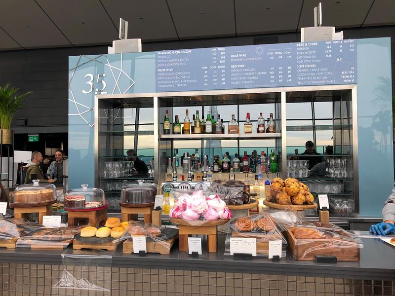 Coffee bar inside the Sky Garden