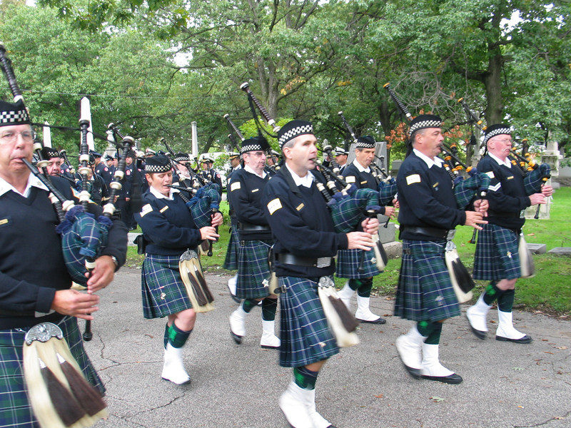 The Pipes and Drums of the Emerald Society of The Chicago Police Department
