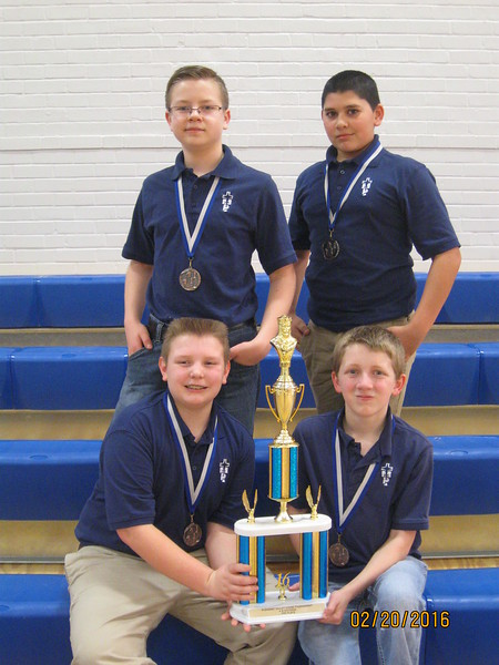 Junior High Chess TeamBack Row L to R Seth Perrett, Aakash PatelFront Row L to R Hunter Flax, Japheth Briney