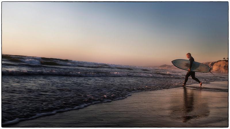 Surfer at Scripps