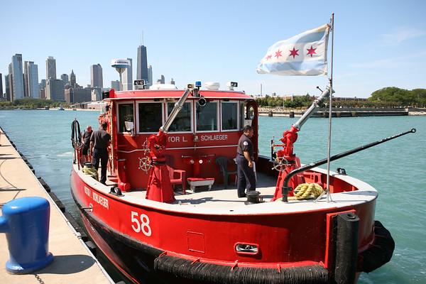 Fireboat Engine 58 Navy Pier August 26, 2008