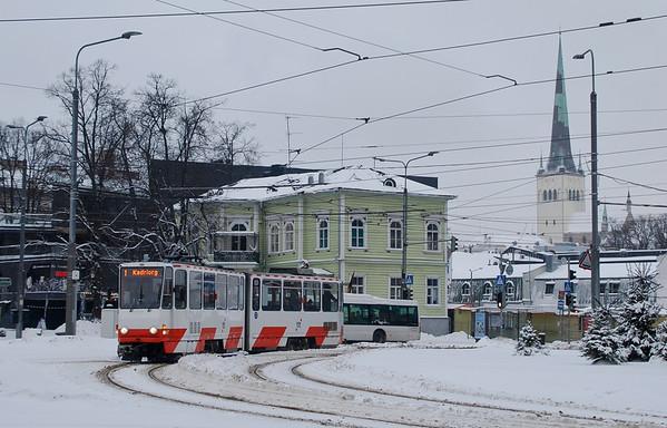 Trams in the Snow: Tallinn