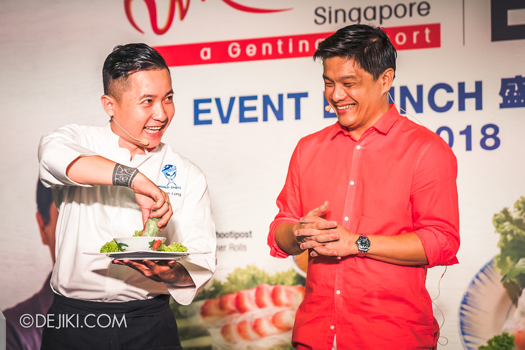RWS Street Eats 2018 - Chef Steven Long tries the Singapore Shiok Summer Roll