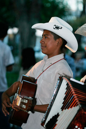 Young Street Musician in Telecote, Mexico