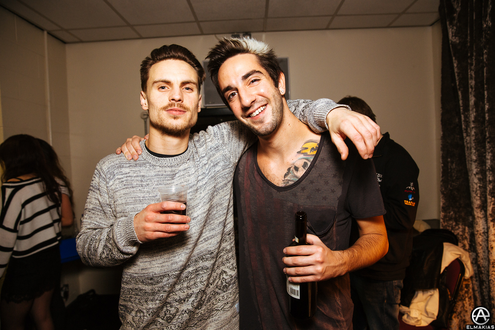 Dan of You Me At Six and Jack of All Time Low