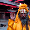 Holy man, Kathmandu, Nepal