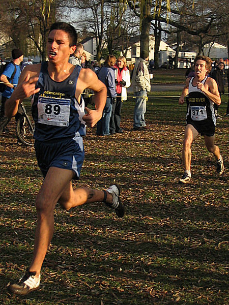 2005 Canadian XC Championships - Ian Manyfingers (32:22) and Brendan Hunt (32:23), 35th and 36th
