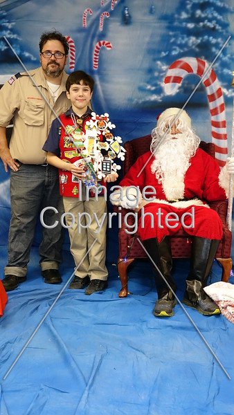 2018 Scouts with Santa