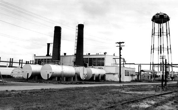 Rear view of a power plant at the naval base : Green Cove Springs, Florida in 1962. State Archives of Florida, Florida Memory, http://floridamemory.com/items/show/80783