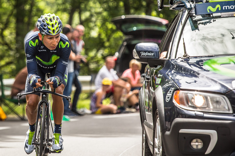 Nairo Quintana during tour de france 2016