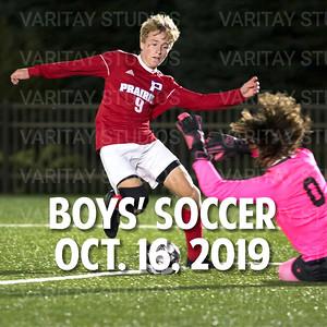 Prairie Boys Soccer 10-16-2019