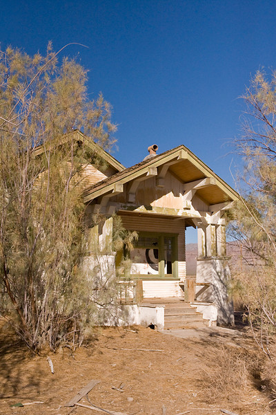 Death Valley Craftsman Death Vally Junction, CA  House that looks inspired by craftsman style of architecture.  It's totally different from the other structures in the area.  Most of the buildings in town are adobe block construction rather than wood frame.