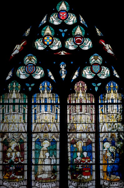 Bourges Cathedral, Saints Agnes,, Stephen and James