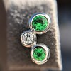 Tiffany & Co. Bubble Diamond and Tsavorite Earrings 10