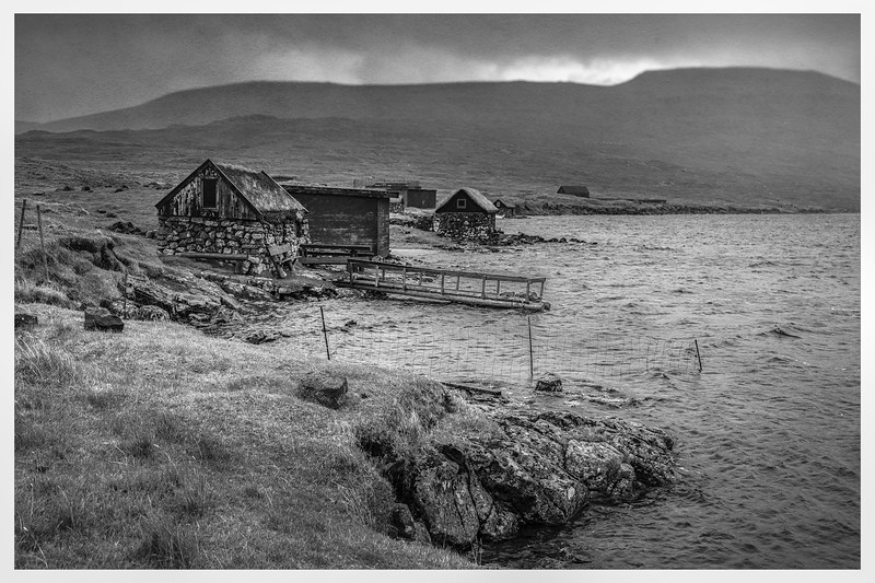 Faroe Shelters 3     Black and White  Photography by Wayne Heim