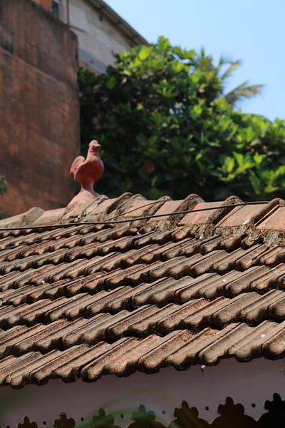 Panjim walk -a few houses had chicken decorations