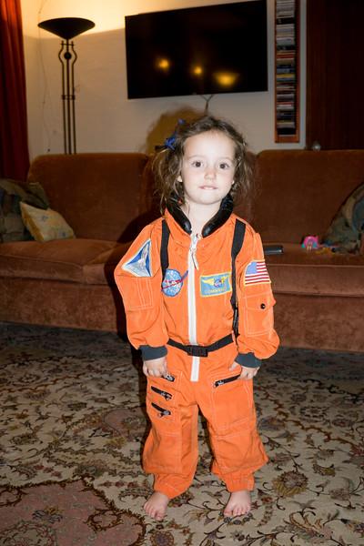 Alexandra in Space Suit, Oct 2015
