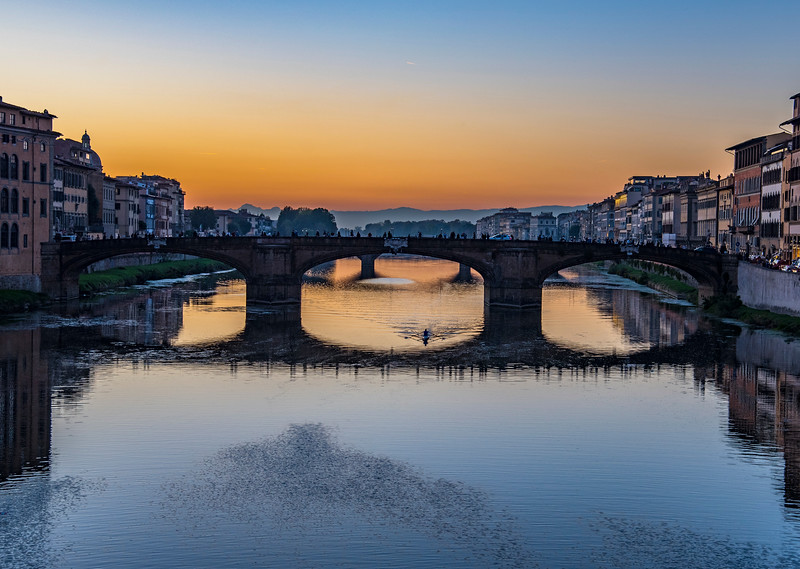Florence Bridge at Sunset