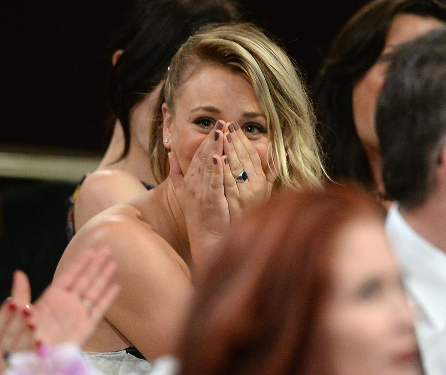 . Actress Kaley Cuoco attends Broadcast Television Journalists Association\'s third annual Critics\' Choice Television Awards at The Beverly Hilton Hotel on June 10, 2013 in Los Angeles, California.  (Photo by Michael Buckner/Getty Images for CCTA)