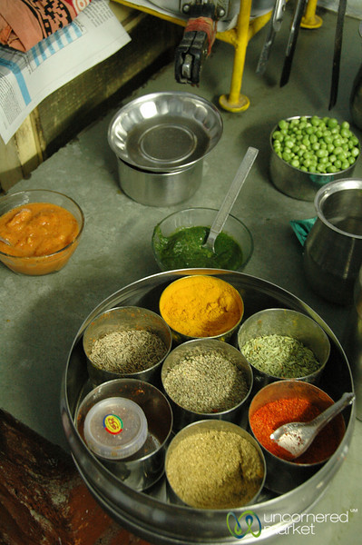 Tray of Indian Spices - Udaipur, India