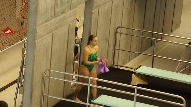 Meg diving NCAA Nationals