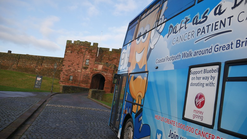Brian Burnie & Bluebell Bus at Carlisle Castle