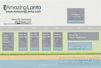Klong Nin Villa Map