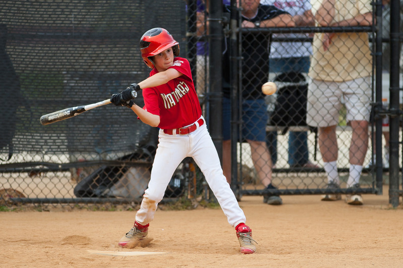 Luke at bat in the top of the 3rd inning. The Nationals started out their season with a 4-1 win over the Pirates. 2012 Arlington Little League Baseball, Majors Division. Nationals vs Pirates (14 Apr 2012) (Image taken by Patrick R. Kane on 14 Apr 2012 with Canon EOS-1D Mark III at ISO 200, f2.8, 1/1250 sec and 200mm)