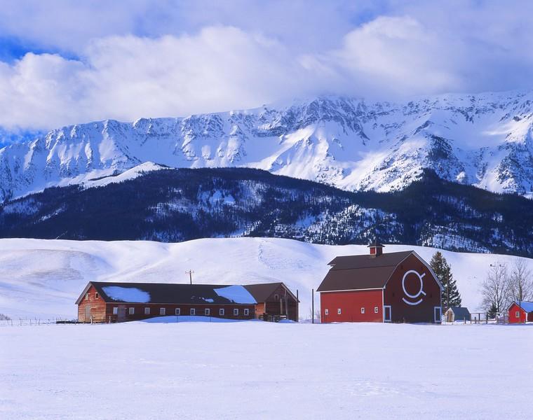 Brennan Barn in snow w Chief Joseph Mt sf.jpg