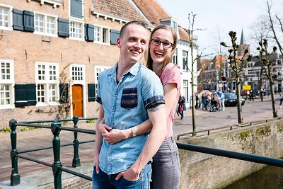 Doortje en Don | Love-shoot stad Amersfoort