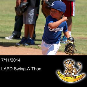 2014-07-11 LAPD Baseball - Swing-A-Thon