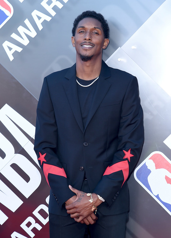 . NBA Player Lou Williams, of the Los Angeles Clippers, arrives at the NBA Awards on Monday, June 25, 2018, at the Barker Hangar in Santa Monica, Calif. (Photo by Richard Shotwell/Invision/AP)